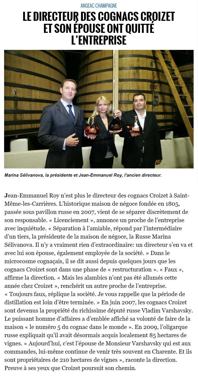 Croizet presse