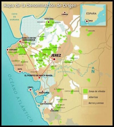 Mapa do jerez